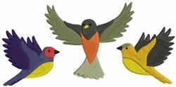Colorful Bird Border embroidery design