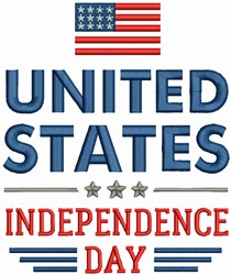 United States - Independence Day embroidery design