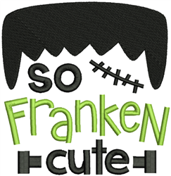 So Franken Cute embroidery design