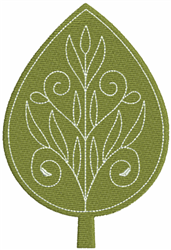 Filigree Green Leaf embroidery design