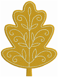 Gold Leaf embroidery design