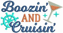 Boozin And Cruisin embroidery design