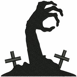 Cemetery Zombie Hand embroidery design