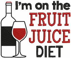 Fruit Juice Diet embroidery design