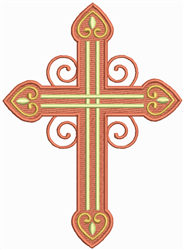 Ornate Cross embroidery design