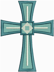 Ornate Geometric Cross embroidery design