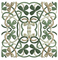 Celtic Flower Quilt Square embroidery design