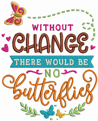 Without Change embroidery design
