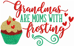 Grandmas With Frosting embroidery design