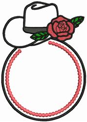 Monogram Cowboy Hat embroidery design