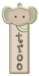 Elephant Bookmark Applique embroidery design