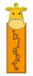 Giraffe Bookmark Applique embroidery design