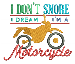 I Dont Snore embroidery design