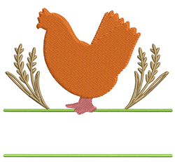 Chicken Namedrop embroidery design
