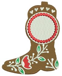 Cowboy Boots Monogram embroidery design