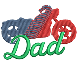 Dad Motorcycle embroidery design