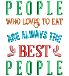 People Love To Eat embroidery design
