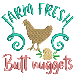 Butt Nuggets embroidery design