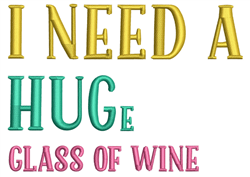 Glass Of Wine embroidery design