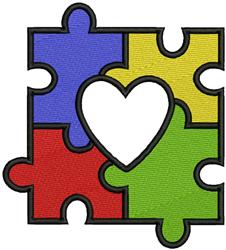Autism Puzzle embroidery design