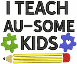 Au-some Kids embroidery design