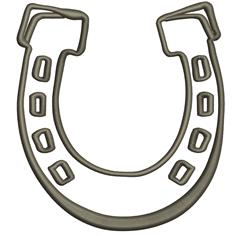 Horseshoe Outline embroidery design