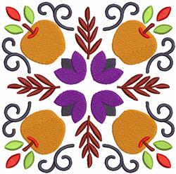 Apple Square embroidery design