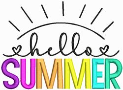 Hello Summer embroidery design