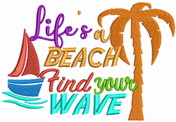 Find Your Wave embroidery design