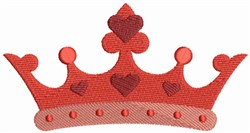 Valentine Crown embroidery design