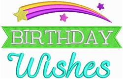 Birthday Wishes embroidery design