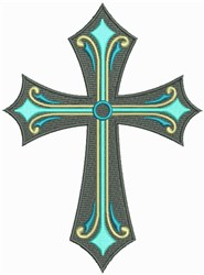 Christian Ornate Cross embroidery design