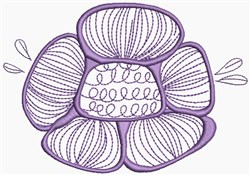 Lilac Flower embroidery design
