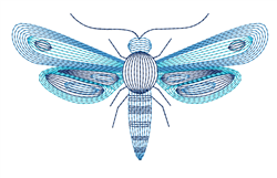 Ripple Dragonfly embroidery design