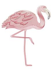 Ripple Flamingo embroidery design
