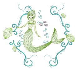 Mermaid Ripples embroidery design