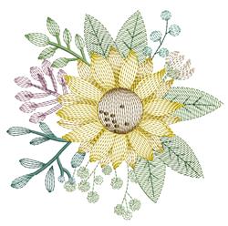 Ripple Sunflower embroidery design