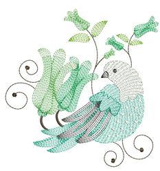 Ripple Bird embroidery design