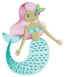Ripple Mermaid embroidery design
