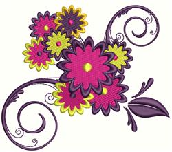 Flower Swirls embroidery design
