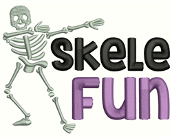 Skele Fun embroidery design