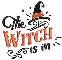 Witch Is In embroidery design