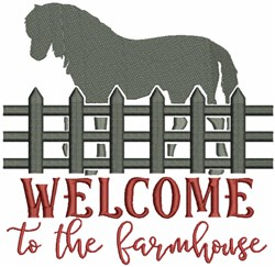 Welcome to the Farmhouse embroidery design