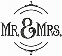 Mr. and Mrs. embroidery design
