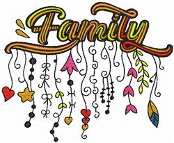 Family - Whimsical embroidery design