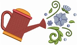 Flower Watercan embroidery design