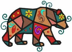 Geometric Bear embroidery design