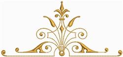 Golden Ornaments Border Decoration 3 embroidery design