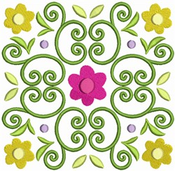Easter Flower Quilt Block 2 embroidery design