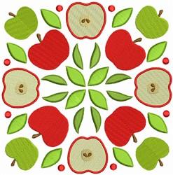 Fruit Quilt Block - Apples Squares embroidery design
